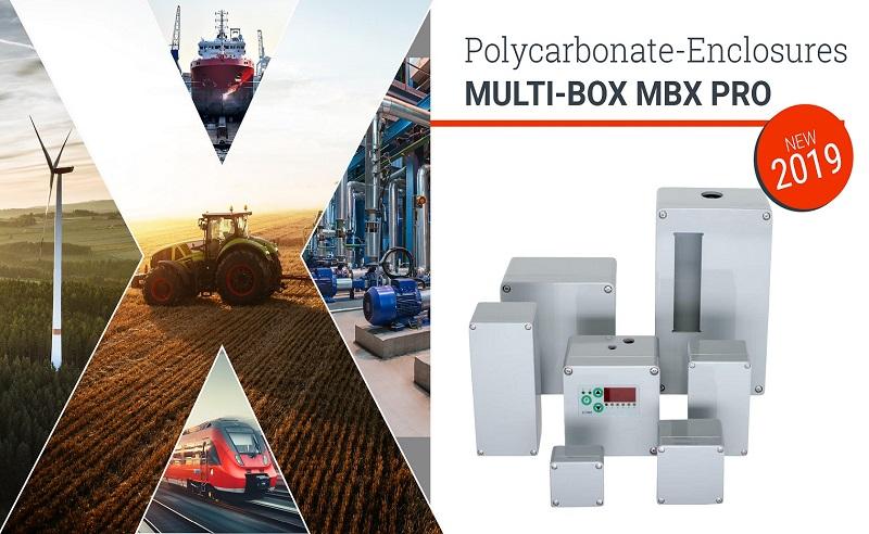 Kunststof behuizingen IP69K MBX Multibox ViFa Enclosures